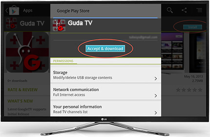 How to install GUDA TV App to GoogleTV Devices